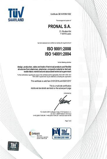PRONALISO国际标准